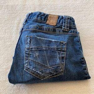 Buckle BKE star stretch cropped jeans size 25